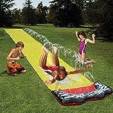 Ploufer Single Lane Wasserrutsche - 188 x 27,5'Hinterhof Riesen Wasserrutsche Kinder Sommer Rasen Wasserrutsche Spray Outdoor-Spielzeug