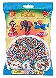 Hama 201-90 - Beutel mit 3000 gestreiften Perlen, bunt