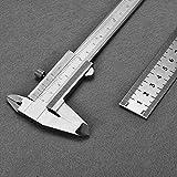 Messschieber,Schublere,Messschieber,Schieblehre,TEPSMIGO 150mm (6 inch) Metrisch & Imperial Vernier Bremssattel Mit 20cm Stahlregel ¡
