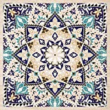 Cuadros Lifestyle 2D-Wandobjekt aus Holz | Oriental | Ornament | Mandala | Floral | Holzbild | Shabby-Look | Landhaus | Vintage | Holzobjekt | Deko | Holzdruck | Geschenk, Größe:ca. 50x50cm