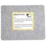 Litthing Bügelmatte,100% Wolle,15 mm dick,Ironing Pad,Woll-Bügelmatte,Filz-Bügelunterlage,Hochtemperatur-Bügelbrett,Tragbare Bügelunterlage,Quilt-Bügelunterlage,Woll-Pressmatte,17 x 13.5 Inches