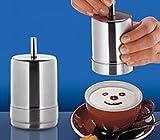 Cilio Dekorierstreuer Choco-Latte satiniert, Edelstahl, 8 x 8.2 x 14.2 cm