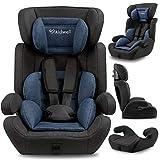KIDWELL MAVI Autositz Kindersitz 9-36 kg | Autositzerhöhung | 8 Monate-11 Jahren | Gruppe 1/2/3 | 46 x 64 cm | mit 5-Punkt-Gurtsystem | verstellbare Kopfstütze| stabil & sicher | Blau