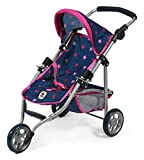Bayer Chic 2000 612 72 Jogging Buggy Lola, Puppenwagen, Stars Navy-pink