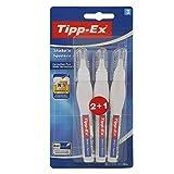 Tipp-Ex Korrekturstift Shake 'n Squeeze (punktgenaues und schnelltrocknendes Korrigieren, Blister à 3x8ml Korrektur Stift)