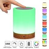 LED-Nachtlicht,Nachttischlampe Stimmungslicht,Smart Touch Control Nachtlicht,RGB Farbwechsel-Modi Dimmbar Wiederaufladbarer USB-Anschluss für Kinder, Schlafzimmer, Camping (green1) (green1)