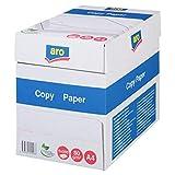 aro Druckerpapier   Kopierpapier   DIN A4   80 g/m²   5x500 Blatt (2.500 Blatt)   Weiß   Professionelles Druckerpapier für Home Office und Büro