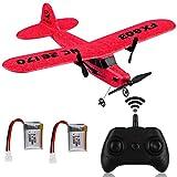 RC-Flugzeugfernbedienung 2,4 GHz 2-Kanal-RC-Flugzeug FX-803 Eingebautes 6-Achsen-Gyro-EPP-Flugzeug Flugbereit RC-Flugzeuggleiter Leicht zu fliegen für Anfänger Erwachsene Kinder Jungen (rot)