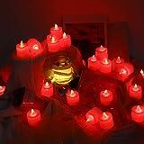 24 LED Teelichter Flackernd Mini Flammenlose Kerzen Flackernde Flamme ABS Elektronisches Teelicht Batterie Betrieben Dekorative Teelichter Kerzen Batteriebetriebene Licht Elektrische Teelichter Kerzen