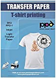 PPD A4 x 10 Blatt Inkjet PREMIUM T-Shirt Transferpapier Transferfolie Bügelfolie für Tintenstrahldrucker und helle Textilien PPD-1-10N