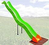 Loggyland Anbaurutsche Wellenrutsche 3,32m für Podesthöhe: Podesthöhen: 140 - 160 cm BZW 1,4 - 1,6 m