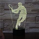 Tennisspielerzahl Fernnachtlichthauptbüroraumdekorationsnachtlicht scherzt Geburtstagsgeschenktabellentischlampe