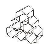 Compactor Kitchen ran8663Flaschenregal Circolare, Metall, Bronze matt, 28x 28x 14,5cm