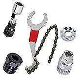 kris Fahrrad Reparatur Werkzeug,Kettenpeitsche,Ketten Werkzeug,Kurbelabzieher Set,Demontage Werkzeug Fahrrad,Fahrrad Reparatur Werkzeug Set,Fahrrad Reparatur Set
