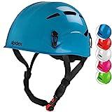 ALPIDEX Universal Kinder Kletterhelm 47-54 cm Helm für Kinder zum Klettern (Turquoise)