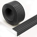 InnoBeta 2 Meter multifunktionaler Kantenschutz und Eckenschutz, aus Schaumstoff für Kindersicherung, für Tisch- und Möbel-Ecken, Weichem Stoßschutz für Baby und Kinder (Schwarz)