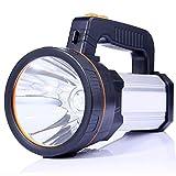 ALFLASH LED Handscheinwerfer 6000 Lumens Outdoor Led Taschenlampe 5 Model Tragbar Laterne Extrem Hell USB Wiederaufladbare CREE Akku Handlampe Arbeitsleuchte Flashlight 1 Jahr Ersatzgarantie(Silver)