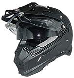 Crosshelm Endurohelm Motorradhelm mit integrierter Sonnenblende und Visier THH-TX28-M