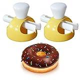 Gurxi Kunststoff Donut Maker Hersteller Donut Küche Donut Antihaftform Donut Form Donut Werkzeug Form Donuts Maker für die Herstellung von Donuts zu Hause oder im Restaurant 2 Stück