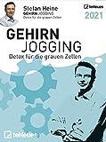Stefan Heine Gehirnjogging 2021 Tagesabreißkalender - 11,8x15,9 - Rätselkalender - Knobelkalender - Tischkalender