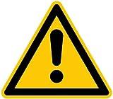 H.Klar Aufkleber Warnung vor einer Gefahrenstelle ähnlich ISO 7010 ISO-W001 SL 50mm