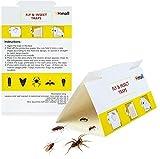 YHmall 12 Ungeziefer Fallen Insektenfallen gegen Multi Insekt Kakerlaken Fliegenfalle Gelbsticker MEHRWEG