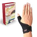 Vigo Sports | medizinische (universal) Daumenbandage für links & rechts | Elastische Daumenschine für Damen & Herren | Daumenorthese z.B. für Sattelgelenk, Kapselriss & Sehnenscheidenentzündung etc.