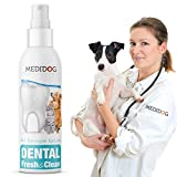 Medidog Dental Fresh&Clean Dentalspray für Hunde und Katzen zur Zahnpflege und Zahnreinigung I Zahnpflege Hunde für frischen Atem I Zahnsteinentferner