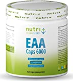 EAA Kapseln - 360 Mega Caps à 750mg - vegan & hochdosiert - 8 essenzielle Aminosäuren - EAAs 6000 (Essential Aminokapseln) - Proteinkapseln - Aminosäurekomplex - Supplement