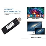 ZUKABMW USB TV Wireless Wi-Fi Adapter für 802.11ac, 2,4 GHz und 5 GHz Dual-Band Wireless Netzwerk USB WiFi Adapter für Samsung Smart TV