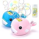 KOOWHEEL Seifenblasenmaschine, Automatischer tragbar Bubble Machine 3000+ Pro Minute mit Flüssigkeit Einfach zu bedienen für Kinder Outdoor und Indoor, Geschenk (Rosa)
