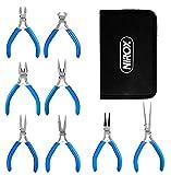 Nirox Elektronik Zangenset - Präzisionszangen mit rutschfesten Griffen - Elektro Zangen mit Aufbewahrungstasche - Werkzeug in Form aller gängigen Zangenarten