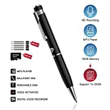 Digitales Diktiergerät Voice Recorder Pen Mini Audio Recorder 16GB USB Wiederaufladbar Aufnahmegerät mit MP3 für Meetings Vorträge Interviews und Studenten Lernen