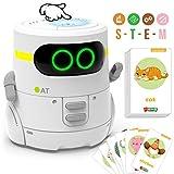 GILOBABY Smart Roboter Spielzeug für Kinder,Touch funktions Roboter mit Spracher kennungs Funktion, Elektronisches Roboter Spielzeug mit Tanz und Musik und Gehen, Geschenke für Jungen / Mädchen (Weiß)