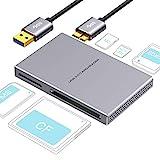 SD kartenleser 5 in 1 USB 3.0, Aluminiumlegierung mit USB Kabel kartenlesegerät für SD, Micro SD, SDXC, SDHC, Micro SDHC, Micro SDXC, kompatibel mit Windows 10, 8.1, 8, 7, Vista, XP, Mac OS