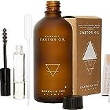 Bio Rizinusöl - Castor Oil - 100% rein, kaltgepresst, unraffiniert, vegan, gentechnikfrei. Natürliche Haarwuchsbehandlung. Verstärkt das Wachstum der Wimpern der Augenbrauen 100ml Earth To You London
