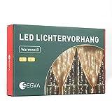 SEGVA LED lichterkette Vorhang 3m x 1m, 150er LED Lichtervorhang für Weihnachten - Warmweiß