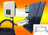 Solax 600Watt Balkonkraftwerk MIT MONTAGEMATERIAL ALS AUFSTÄNDERUNG/WANDBEFESTIGUNG/Solaranlage mit Internetüberwachung von bau-tech Solarenergie GmbH