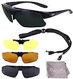 Rapid Eyewear Brille: 'Innovation Plus' UV400 Rx POLARISIERTE Sport Sonnenbrille Rahmen FÜR BRILLENTRÄGER mit Wechselgläsern. Für Damen und Herren. Für Joggen (Laufen), Tennis, Ski etc.