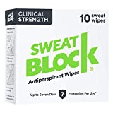 Sweatblock Antitranspirant Für Männer Und Frauen – Antitranspirante Wischtücher Mit Medizinischer Wirkstärke für Hyperhidrose – Reduziert Die Schweißbildung Für Bis Zu 7 Tage Pro Anwendung