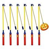6 Pack Laternenstab mit LED für St Martin, LED Elektronischer Laternenstab für Kinderpartys, Kindergarten, Kostümpartys, Halloween, Weihnachten und Mehr