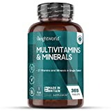 Einführungspreis 2020 Premium Multivitamine und Mineralien - Mit 27 aktiven Vitaminen & Mineralstoffen - 365 vegane Multivitamin Tabletten hochdosiert - Laborgeprüft & 100% Natürlich - 1 Jahr Vorrat