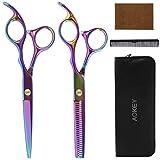 Haarschere - Scheren-Sets, Licht Friseurscheren mit Einseitiger Mikroverzahnung, Perfekter Effilierschere für Damen und Herren, Perfekter Friseurschere Haarschnitt Frisörschere