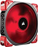 Corsair ML120 Pro LED PC-Gehäuselüfter (120 mm, mit Premium Magnetschwebetechnik, Rot LED, Single Pack) Rot