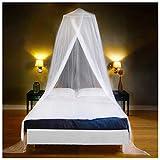 EVEN NATURALS MOSKITONETZ Bett, großes Mückennetz für Einzelbett, feinste Löcher, rundes Netz Vorhang, Insektenschutz Reise, 1 Eintrag, einfache Anbringung, Tragetasche, Keine Chemikalien
