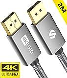 Silkland DisplayPort Kabel 144 Hz/2 m, Unterstützung 4K@60 Hz, 2K@144 Hz, 2K@165 Hz, 1080@240Hz, 3D, Kompatibel mit FreeSync und G-Sync, DP Kabel für 144Hz-Gaming-Monitor, TV, PC, Beamer, Grafikkarte
