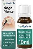 Nagelpilz Behandlung 10ml [NEU2021] YogaMedic® - Patentierter Wirkstoff, schnell und intensiv - Mittel gegen Nagelpilz, Fußnagelpilz, Fingernagelpilz, Lack Kur