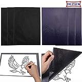 Liuer 200 Blätter Kohlepapier Transferpapier Kopierpapiere Schwarz Blau DIN A4 Pauspapier Durchschreibepapier Carbon Papier Graphitpapier für Holz,Papier,Segeltuch