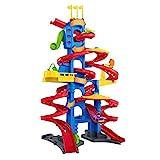 Fisher-Price FXK59 - Little People Hochhaus Rennbahn und Parkhaus für Kinder mit Geräuschen und 2 Spielfiguren, ca. 93 cm hoch, Spielzeug ab 18 Monaten