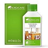 Nordicare Möbelöl [275ml] Holzöl zur Pflege farblos für Eiche, Buche, Nussbaum, Lärche. Holzlasur auf Basis von Leinöl. Leinölfirnis